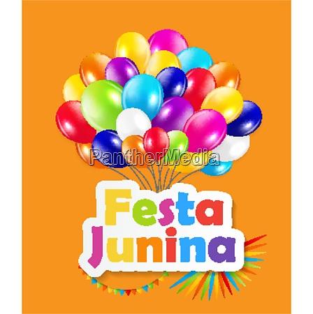 holiday festa junina background vector illustration