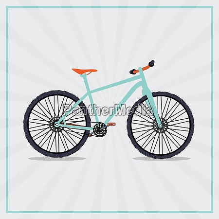 retro bicycle background isolated vector illustrator