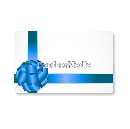 gift card with blue bow and