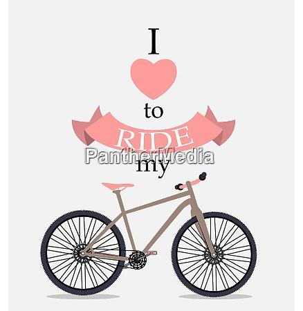 retro bicycle background vector illustrator eps10