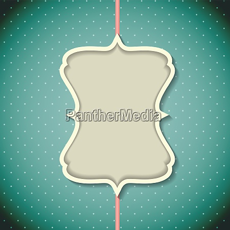 retro vintage background with frame template