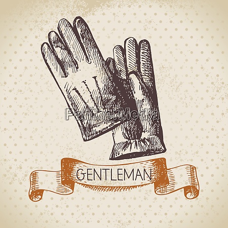 sketch gentlemen accessory hand drawn men