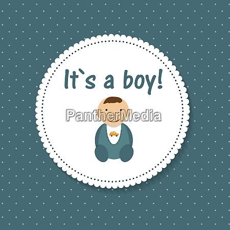 vector illustration for newborn litle boy