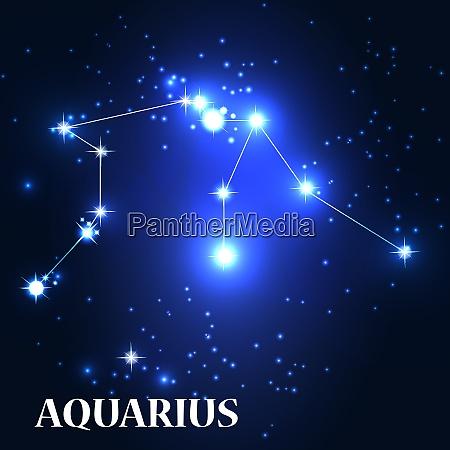 symbol aquarius zodiac sign vector illustration