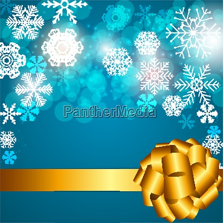 christmas snowflakes on background vector illustration