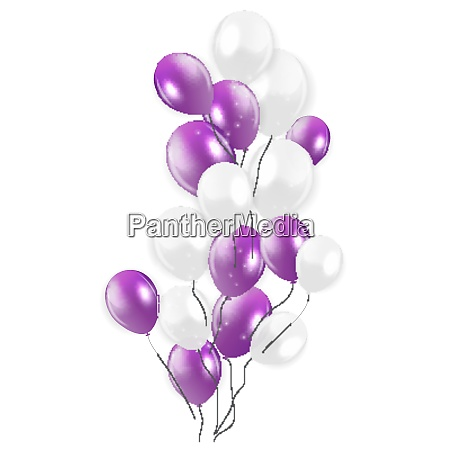 colored isolated balloons background vector illustration