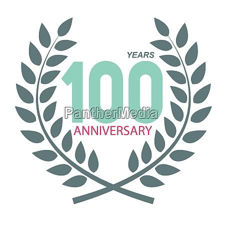 template logo 100 anniversary in laurel