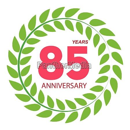 template logo 85 anniversary in laurel