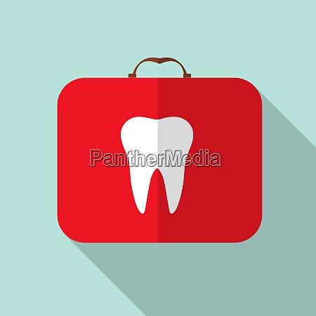 red medical bag with a tooth
