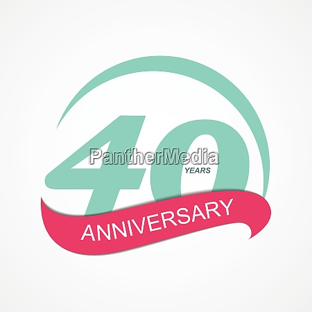 template logo 40 anniversary vector illustration