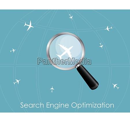 seo search engine optimization flat