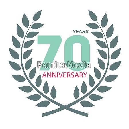 template logo 70 anniversary in laurel