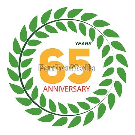 template logo 65 anniversary in laurel