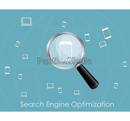 seo search engine optimization flat