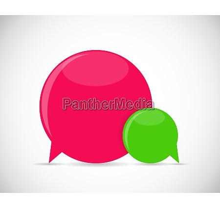 speech bubbles vector illustration eps10 speech
