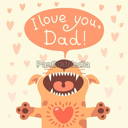 card happy fathers day with a