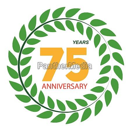 template logo 75 anniversary in laurel