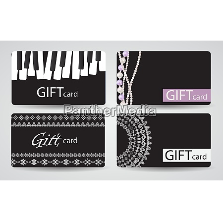 abstract beautiful gift card design set