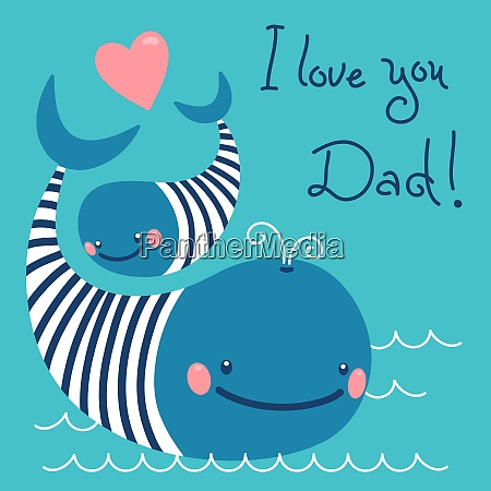 happy father39s day card with cute