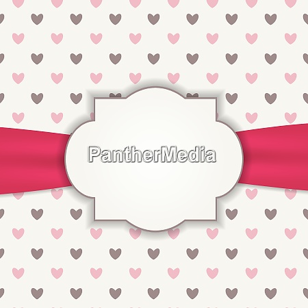 heart background with frame vector illustration