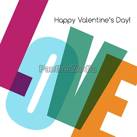 valentines card with love happy valentine39s