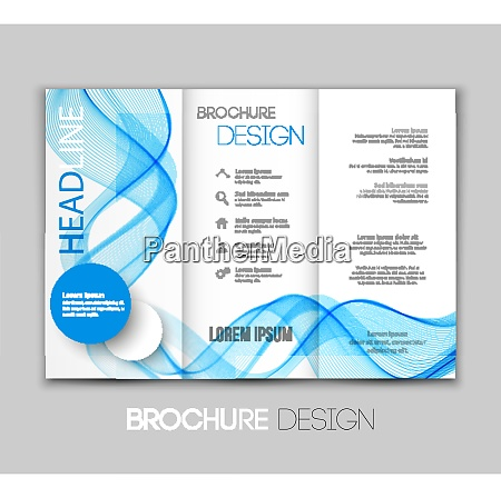 vector template leaflet design with color