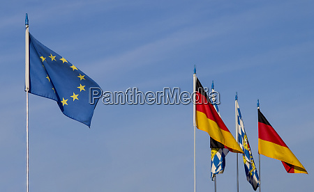 european flag with germany and bavarian