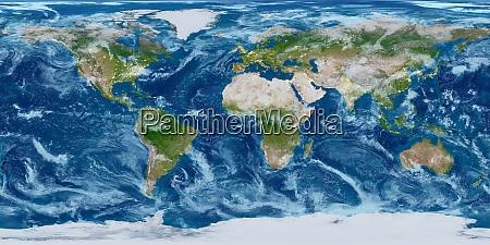 geography world map modified toned with