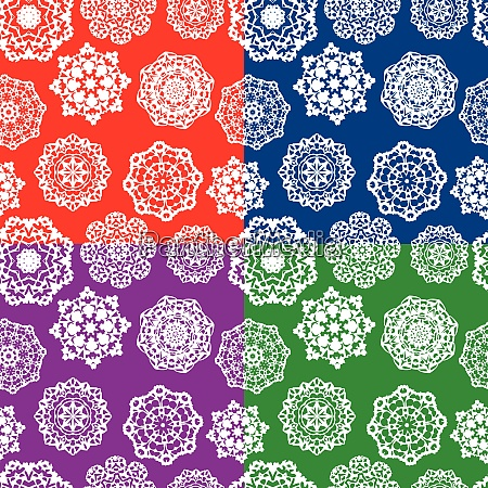 set of seamless patterns with decorative