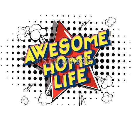 awesome home life comic book