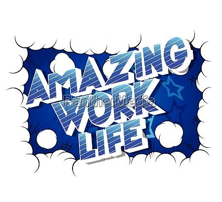 amazing work life comic book