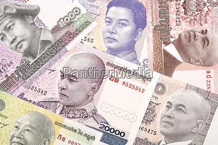 cambodian riel a background