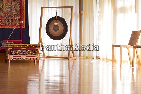 meditation room in a buddhist meditation