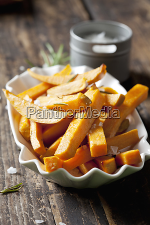 sweet potato fries with rosmary and