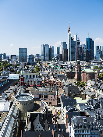 germany hesse frankfurt skyline financial district