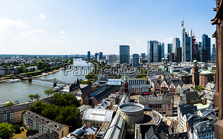 germany hesse frankfurt skyline financial district
