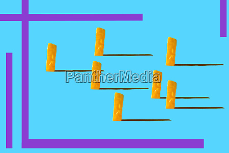 3d rendering fake french fries potatoes