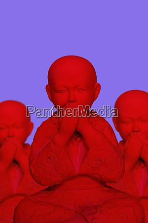 3d rendering buddha keeping silence
