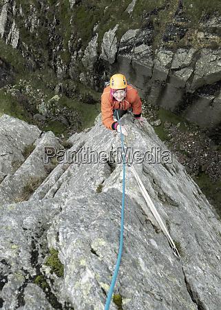england langdale valley gimmer crag female