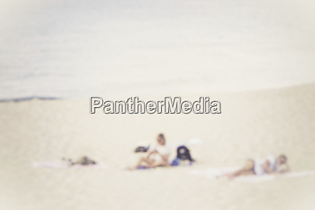 two people on the beach
