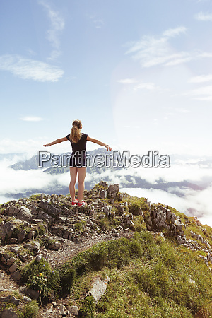 austria south tyrol female hiker teenage