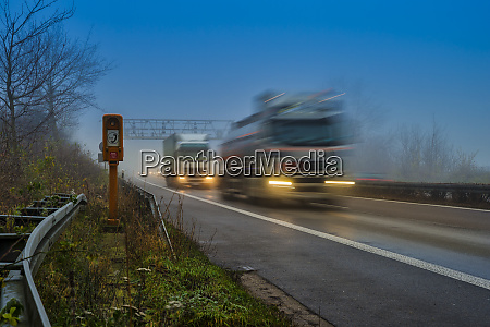 motorway a 46 trucks in the