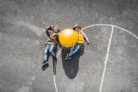 austria aerial view of basketball field