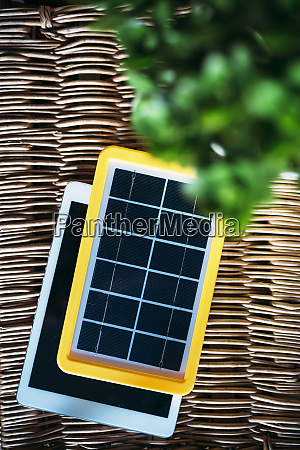 solar panel charger tablet and a