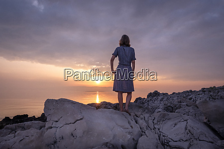 croatia istria losinj woman standing on