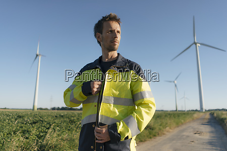 portrait of an engineer on field