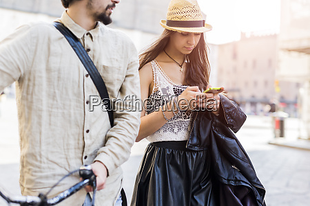 young woman using smartphone in the