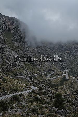 spain mallorca sa calobra mountain road