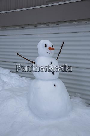 snowman in driveway