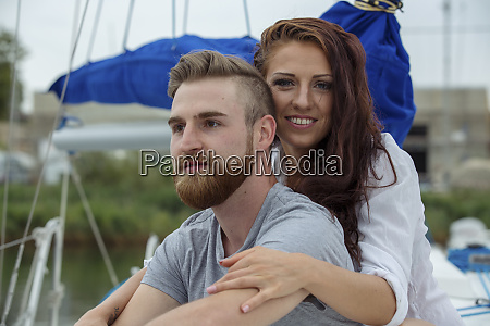 portrait of a happy couple on